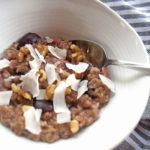 Cherry walnut oatmeal