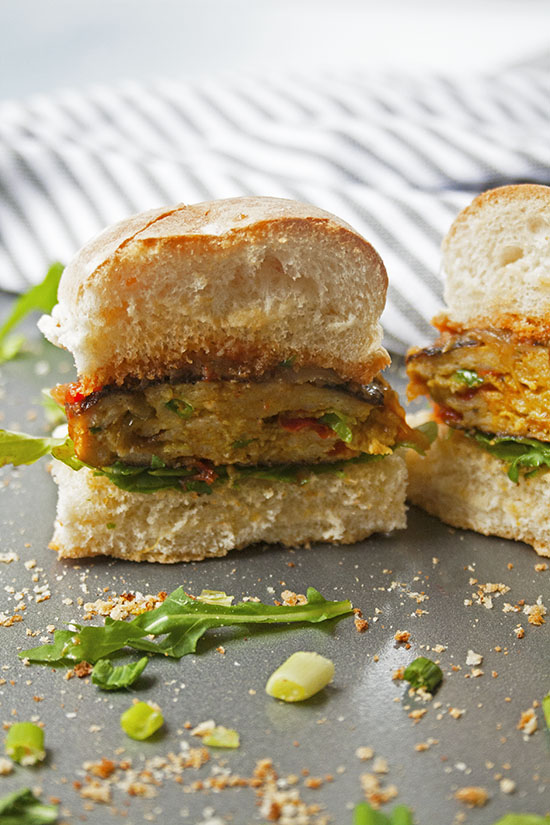 Curry Chicken Burgers | brightrootskitchen.com