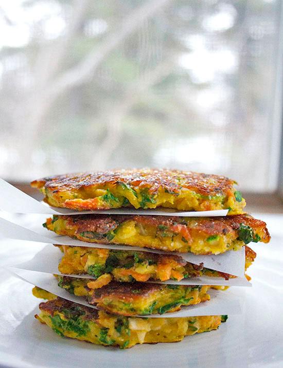 Root Veggie Pancakes|brightrootskitchen.com