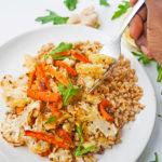 Roasted cauliflower and carrots with spicy lemon vinaigrette | brightrootskitchen.com