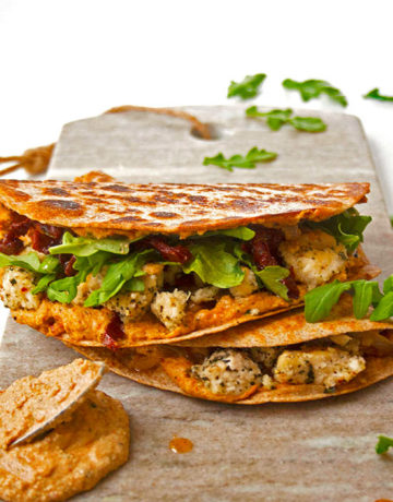 Dairy free sundried tomato and chicken quesadillas | brightrootskitchen.com