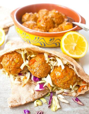 Spiced Baked Turkey Meatballs | brightrootskitchen.com