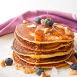 Fluffy Blueberry Pancakes | brightrootskitchen.com