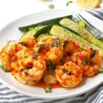 Broiled Lemon Harissa Shrimp| brightrootskitchen.com