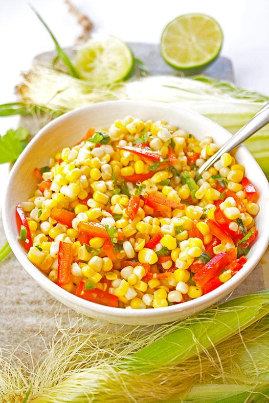 Best Fresh Corn Salsa| brightrootskitchen.com