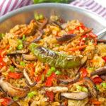 Shisito and Shitake Fried Rice| brightrootskitchen.com