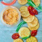 Sun-dried tomato dip| brightrootskitchen.com
