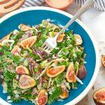 Fig and kale salad  brightrootskitchen.com