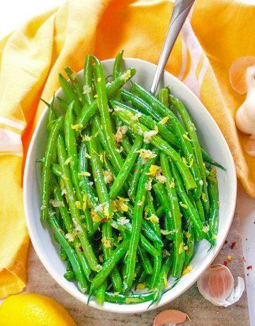 Garlic Green Beans| brightrootskitchen.com