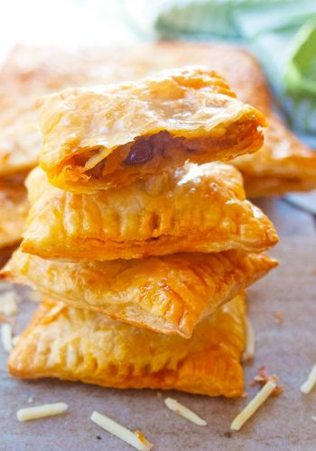 Cheesy Bacon and Sweet Potato Pastry Bites