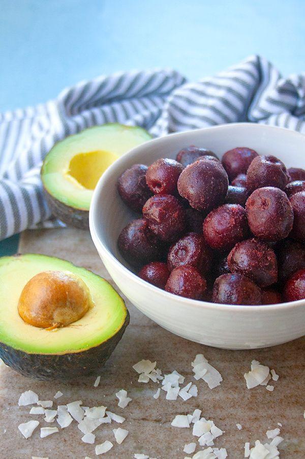 Cherry Avocado Smoothie   brightrootskitchen.com