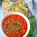Homemade Tomato Sauce| brightrootskitchen.com