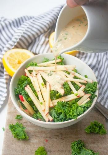 Kale Apple Salad   brightrootskitchen.com