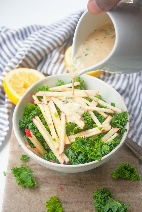 Kale Apple Salad | brightrootskitchen.com