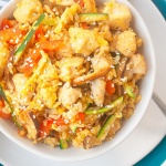 Curry Chicken Fried Rice| brightrootskitchen.com