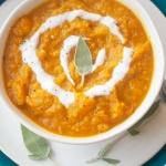 Pumpkin potato soup | brightrootskitchen.com