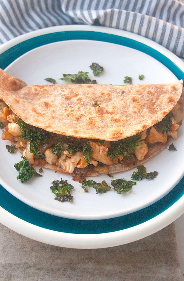 Sweet and Spicy Chicken Quesadillas | brightrootskitchen.com