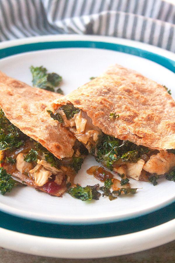 Sweet and Spicy Chicken Quesadillas | brightrootskitchen.com